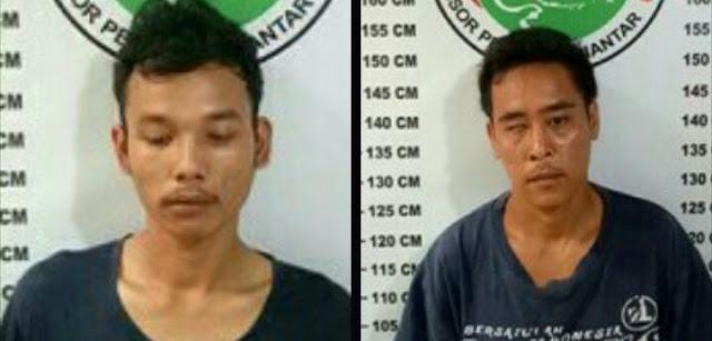 Kedua tersangka narkoba di Siantar.