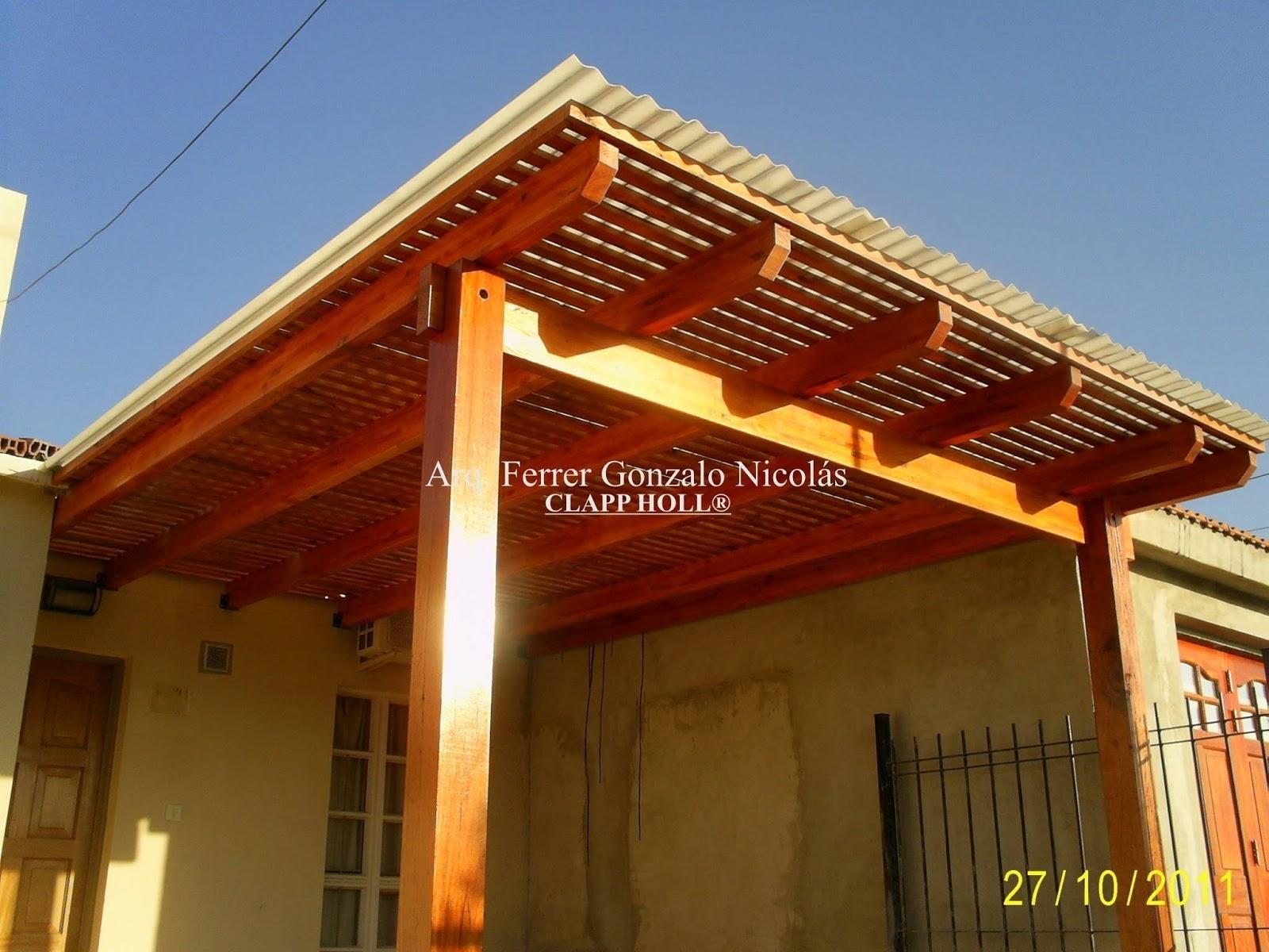 Fotos de p rgolas protegidas c rdoba techos de madera for Modelos techos para garage