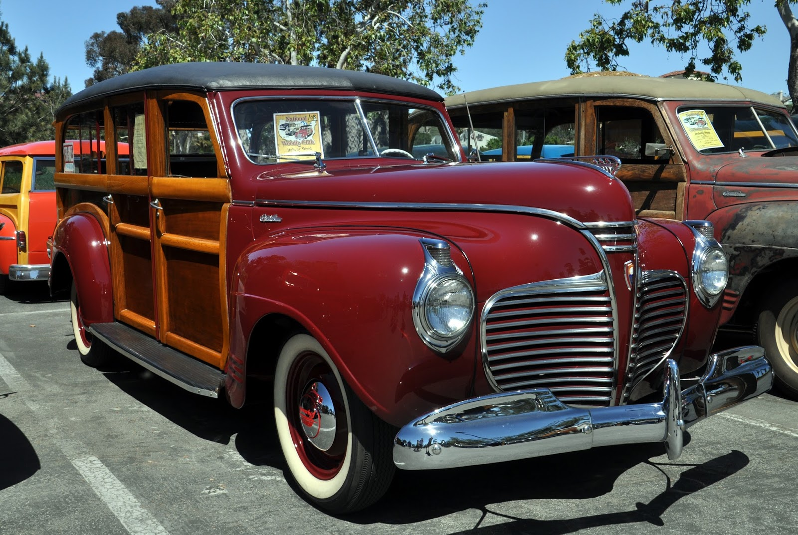 Just A Car Guy 1941 Plymouth Woodies Rough And Restored Compared 2 Dr Coupe The Back Of Ones Is Full Seats There Was No Point In Photographing Them