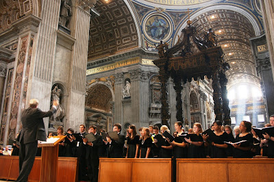 choir in St Peter's, Rome