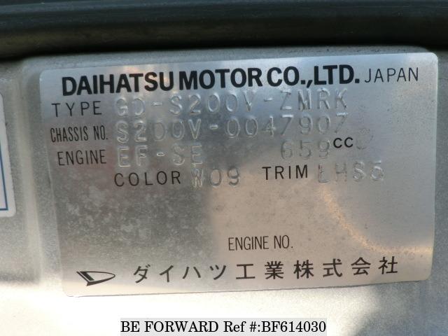 JAPANESE MOTOR SPARE PARTS : DAIHATSU HIJET GD-S200V SPARE PARTS
