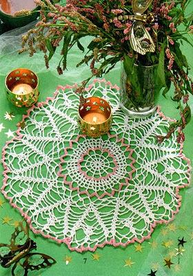 Tejer ganchillo crochet como hacer centro de mesa redondo - Centros de mesa de ganchillo ...