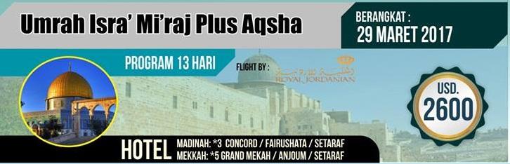 Paket Umroh Plus Aqsga