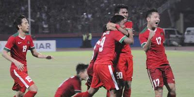 Terlihat suporter Indonesia ramai saat timnas U-19 sedang naik daun (bola.net)