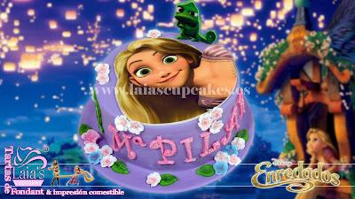 tarta personalizada fondant rapunzel disney enredados pilar cumplealños laia's cupcakes puerto sagunto