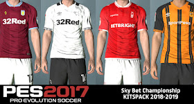 PES 2017 Sky Bet Championship Kits pack 2018 2019 656ae5105