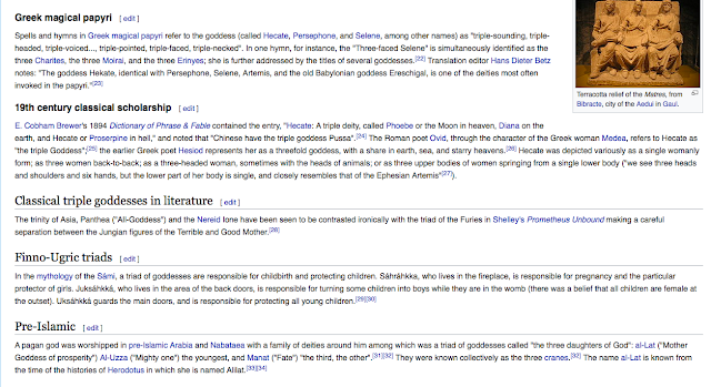Triple deity From Wikipedia, the free encyclopedia 3