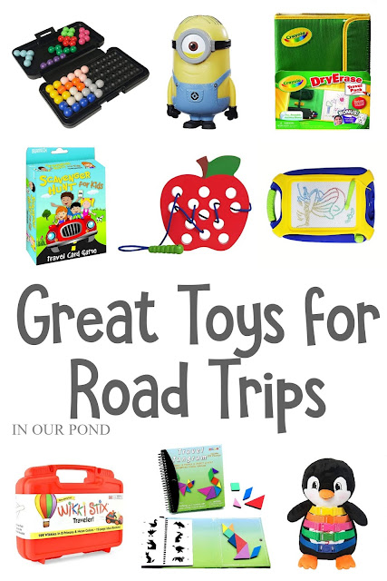 Great Toys for Road Trips and Travel // Party Through the USA // travel toys // airplane toys // hospital stays // kids christmas lists