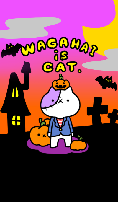 Wagahai is a cat. Halloween