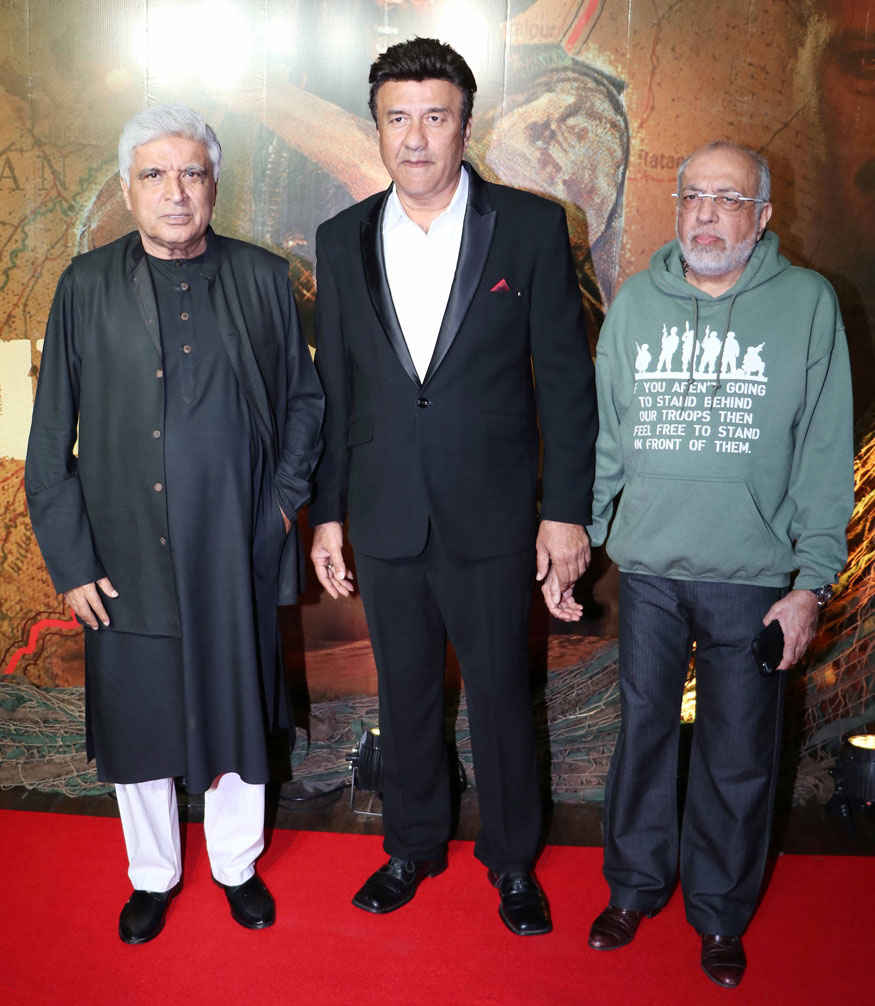 Javed AKhtar, Anu Malik and J. P. Dutta at 'Border' Movie's 20 year Completion Party