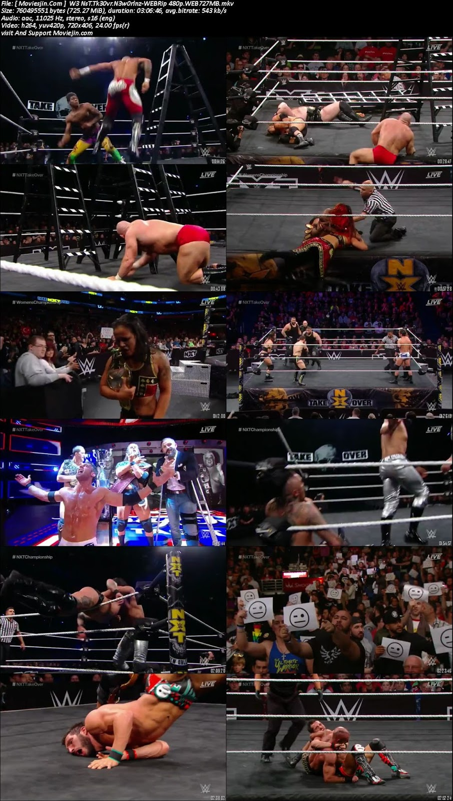 watch online WWE NXT TakeOver New Orleans 2018 700MB WEB-Rip 480p full 9xmovies, download khatrimaza
