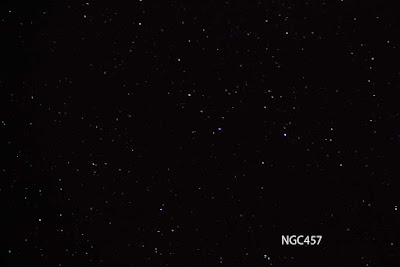 NGC457 shows up in telescope at Julian Star Party at Menghini Winery (Source: Palmia Observatory)