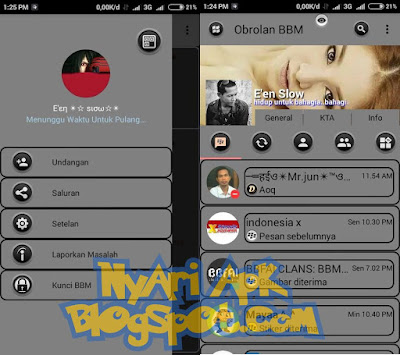 Download BBM Mod Tema Grey Theme Versi 3.0.1.25 Apk