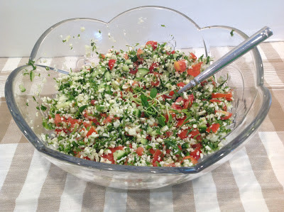 Tabbouleh Salad in a large bowl
