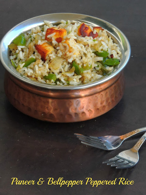 Paneer & Bellpepper Peppered Rice