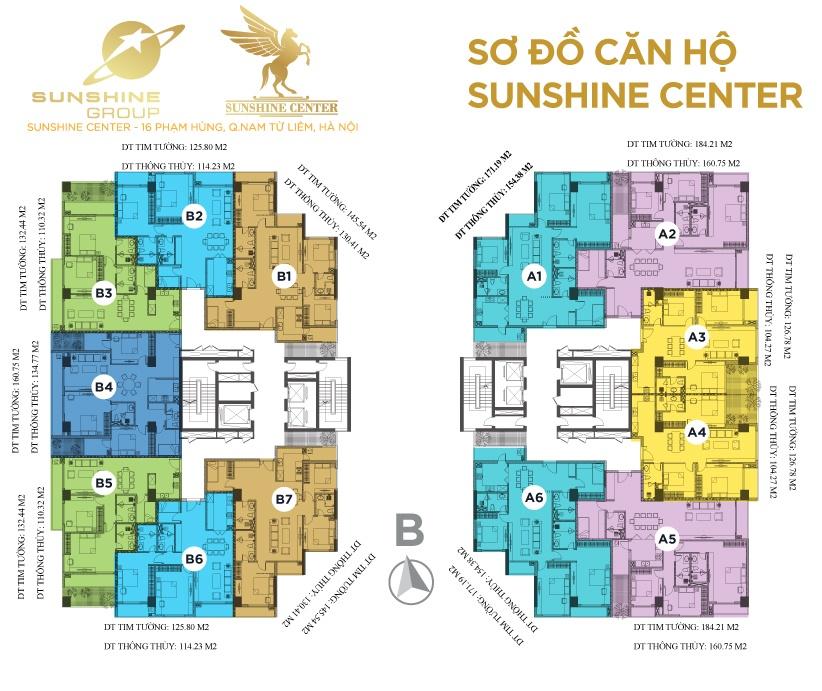 mặt bằng chung cư sunshine center