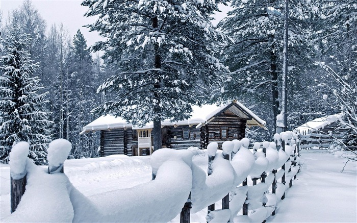 Fond ecran paysage hiver maison fonds d 39 cran hd for Fond ecran noel gratuit pour ordinateur