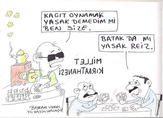 millet kıraathanesi karikatür