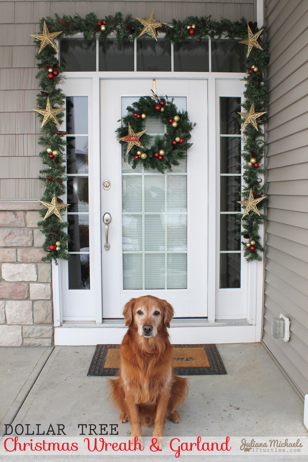 Dollar Tree Christmas Wreath And Garland 17turtles