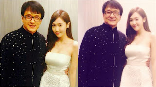 Jessica SNSD Foto Bareng Jackie Chan Di Huading Awards 2013