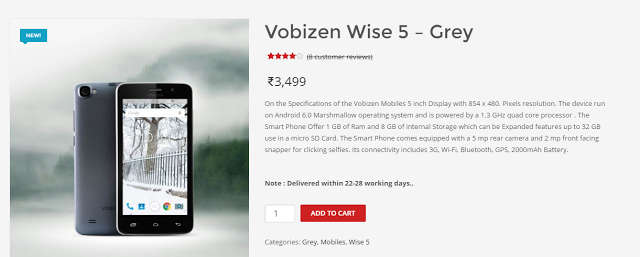 Vobizen Wise 5 Colors