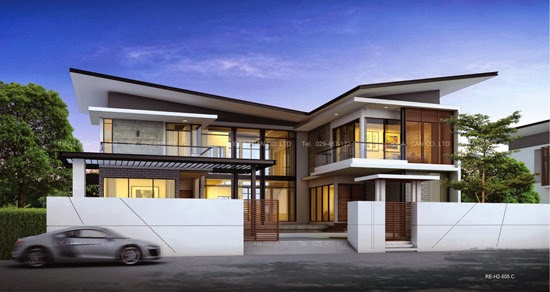 2 Story Home Plans Butterfly Roof Modern Style Living