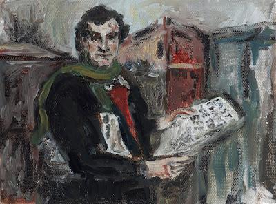 Douglas Adams Portrait Illustration Oil painting ダグラス・アダムス イラスト