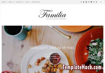 familia blogger template premium
