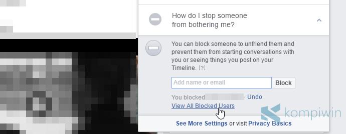 cara blokir orang lain