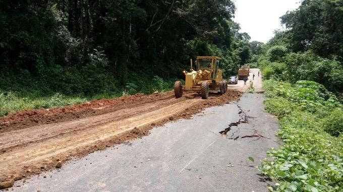 DER inicia recuperação da CE 321 no trecho da Ladeira que liga Graça a São Benedito