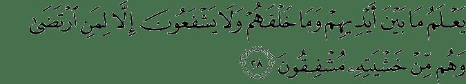 Surat Al Anbiya Ayat 28