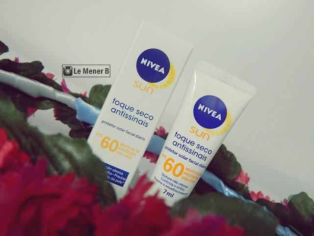 NSUN Protetor Solar Fcial Toque Seco Antissinais