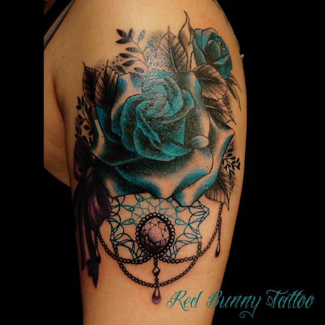 rose jewelry tattoo薔薇 タトゥー