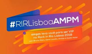 Cadastrar Promoção AMPM Ipiranga Rock in Rio Lisboa 2018