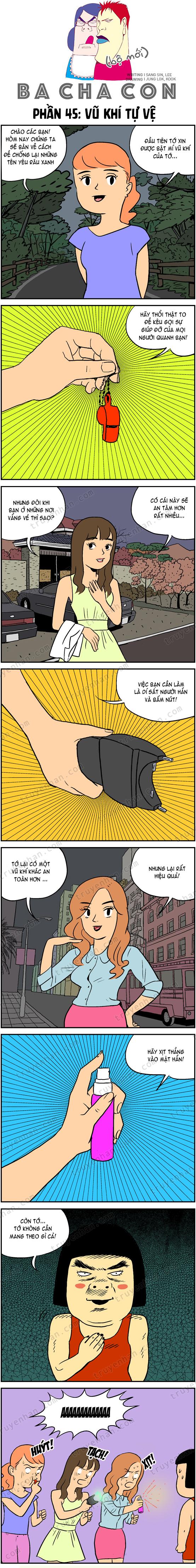 Ba cha con (bộ mới) phần 45: Vũ khí tự vệ