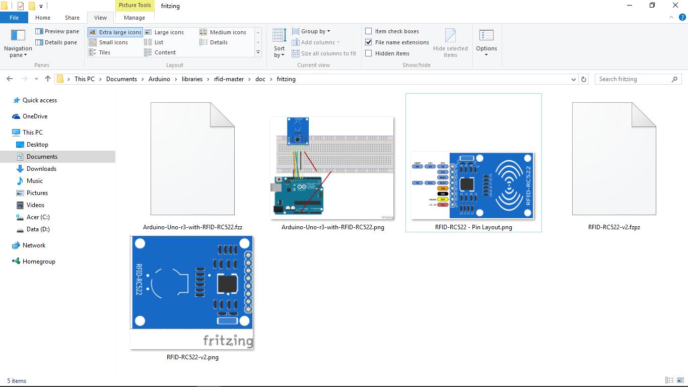 Arduino-er: Arduino Uno + RFID-RC522, MFRC522 library