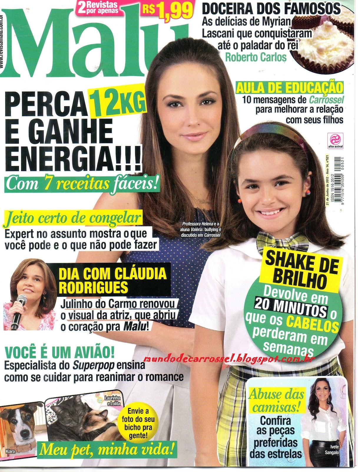 SCANNER  Revista Malu  Carrossel- Aula de Educação 0e51ff923dd