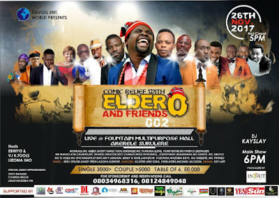 Lagos Agog For 'Comic Relief With Elder O And Friends 002.'