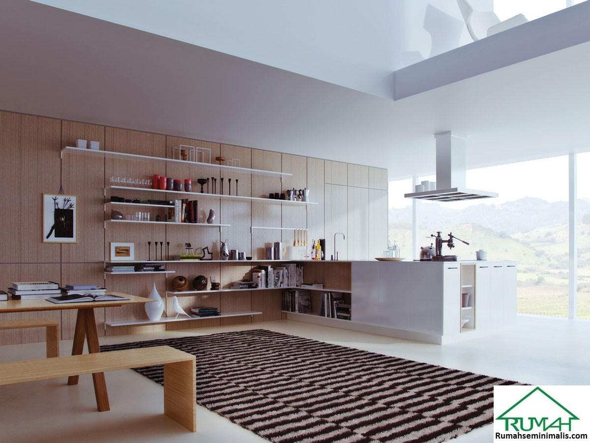 Model Desain Gambar Dapur Minimalis Warna Cat Putih