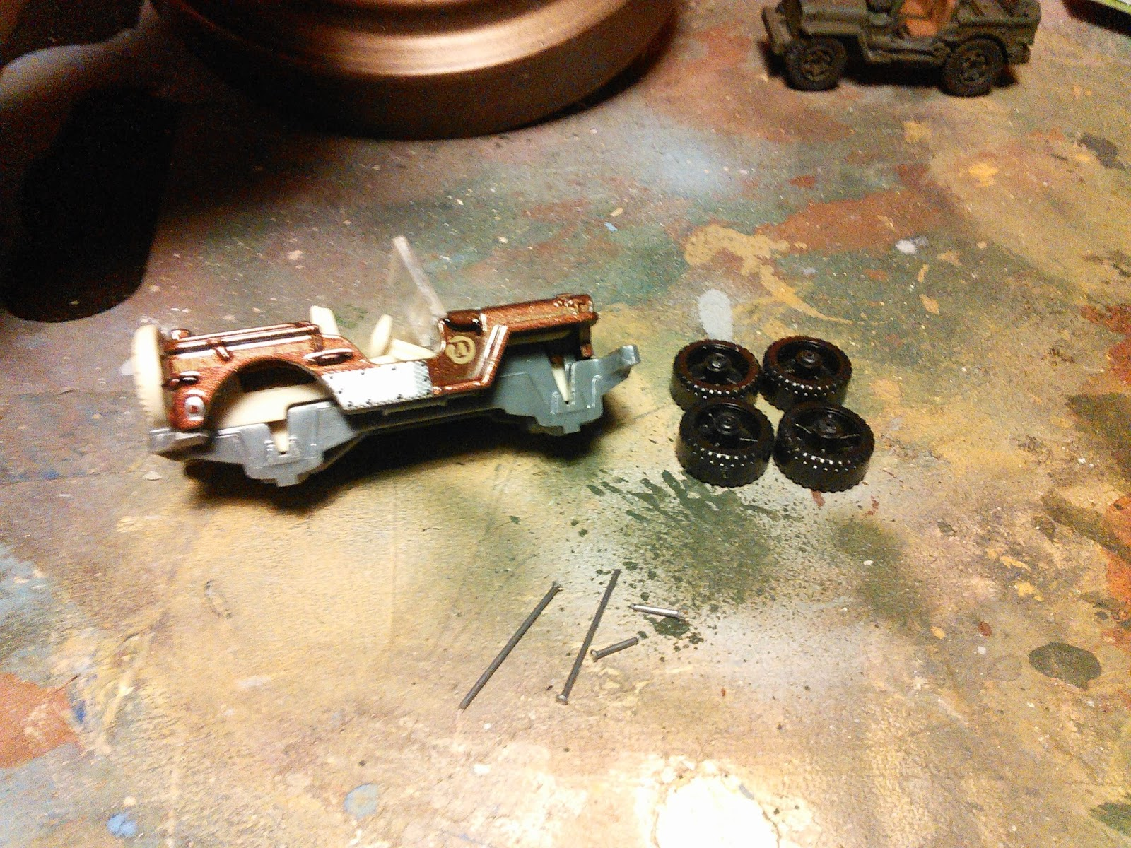 Jerrycan Action Wargames And Tech Matchbox Jeep Conversion For Bolt