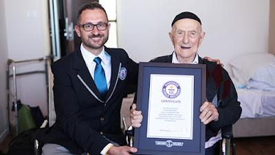 პლანეტის ყველაზე მოხუცი მამაკაცი გინესის წიგნში