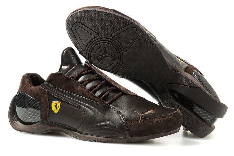 Puma Ferrari Brown Shoes