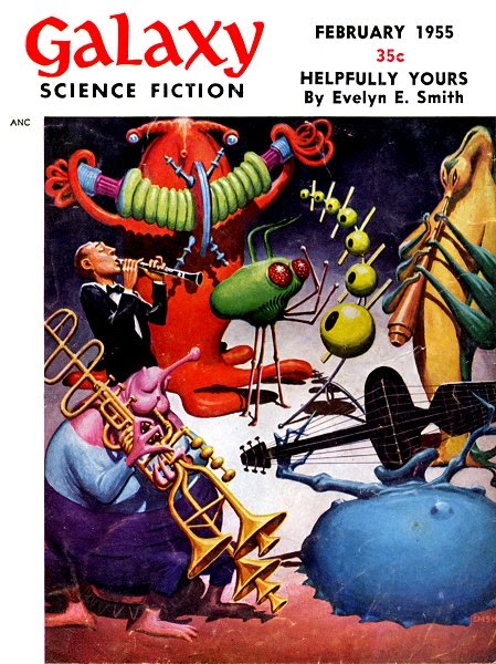 Galaxy Science Fiction - February 1955 Cover