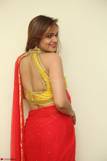 Actress Ashwini in Golden choli Red saree Spicy Pics ~  050.JPG