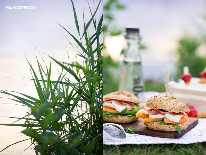 Picknick am See Rezepte Burger mit Melone und Erdbeerspiesse