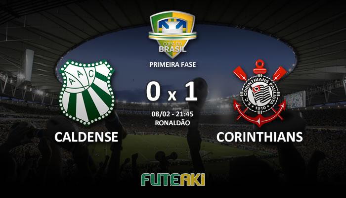 Veja o resumo da partida com os gols e os melhores momentos de Caldense 0x1 Corinthians pela Primeira Fase da Copa do Brasil 2017.