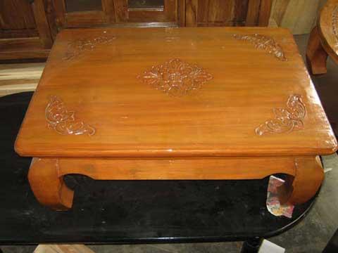 meja lesehan kayu jati