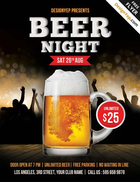 plantilla para bar de cerveza motivo del oktoberfest
