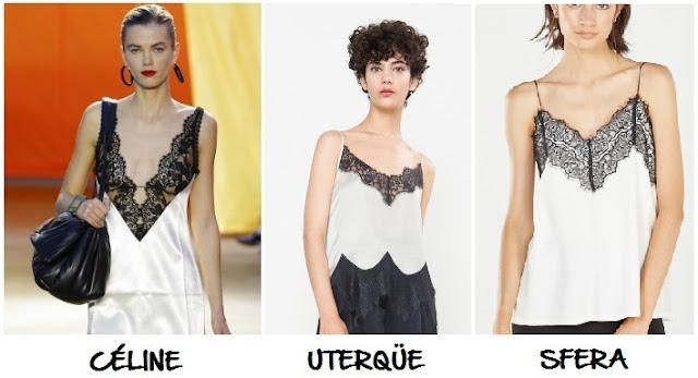 Clon vestido top encaje Céline Uterquë Sfera