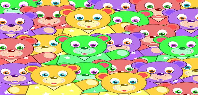Vários Desenhos de ursinhos para colorir, imprimir e recortar